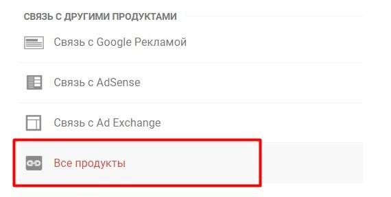 Связь Google Analytics с другими продуктами