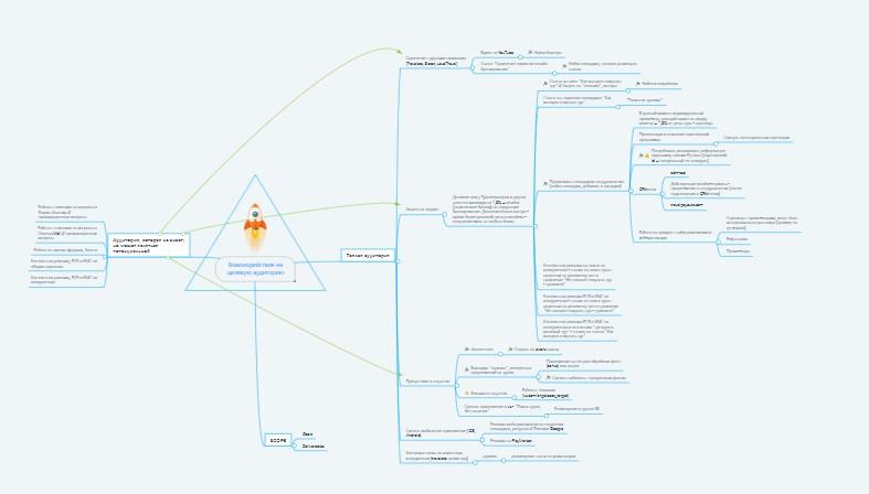 Mind Map по работе с целевой аудиторией проекта